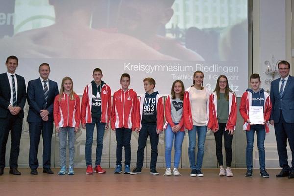 Kreisgymnasium Riedlingen – Triathlon WK III gemischt – 3. Platz Herbstfinale