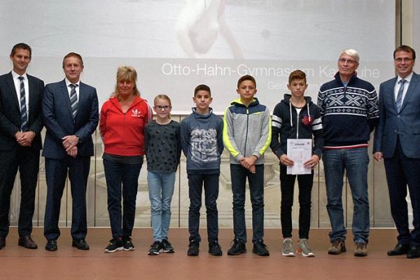 Otto-Hahn-Gymnasium Karlsruhe – Gerätturnen WK IV Jungen  – 1. Platz Bundesfinale