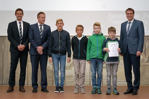 Realschule  Rottweil – Gerätturnen WK III/2 Jungen – 1. Platz RMD-Cup