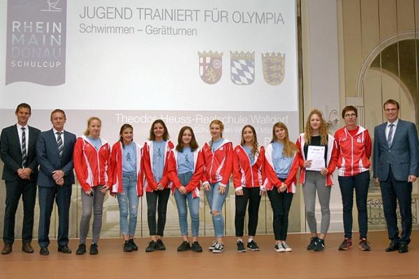 Theodor-Heuss-Realschule Walldorf – Schwimmen WK III/2 Mädchen – 1. Platz RMD-Cup